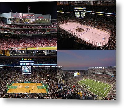 Boston Sports Teams And Fans Metal Print by Juergen Roth