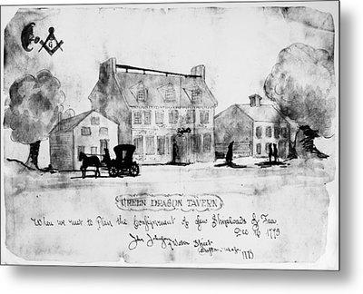 Boston: Tavern, 1773 Metal Print by Granger