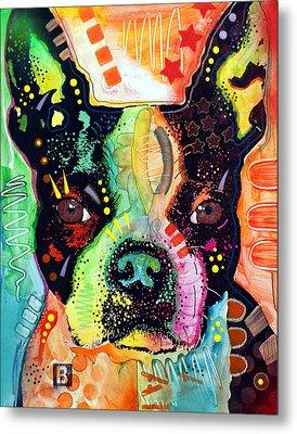 Boston Terrier IIi Metal Print by Dean Russo