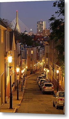 Boston View From Charlestown Metal Print by Juergen Roth