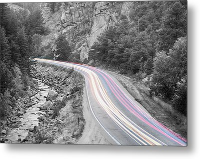 Boulder Canyon Drive And Selective Commute  Metal Print by James BO  Insogna
