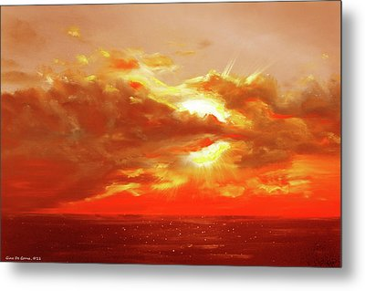 Bound Of Glory - Red Sunset  Metal Print by Gina De Gorna