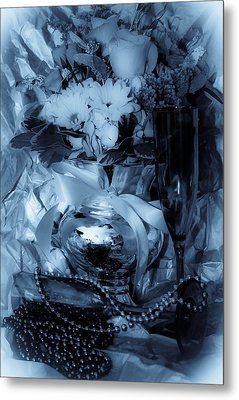 Bouquet And Beads Metal Print by DigiArt Diaries by Vicky B Fuller