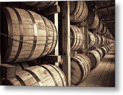 Bourbon Barrels Metal Print by Dan Sproul