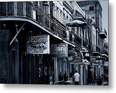 Bourbon Street New Orleans Metal Print by Christine Till