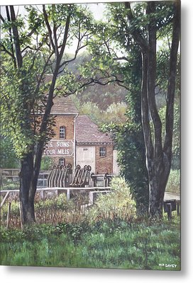 Bournemouth Throop Mill Through Trees Metal Print by Martin Davey