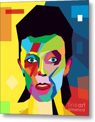 David Bowie Metal Print by Mark Ashkenazi