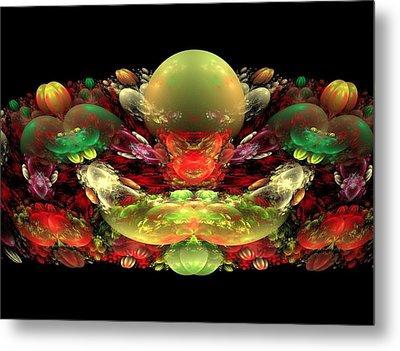 Bowl Of Fruit Metal Print by Bruce Nutting