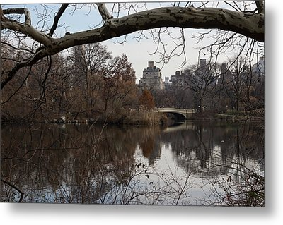 Bows And Arches - New York City Central Park Metal Print by Georgia Mizuleva