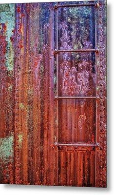 Boxcar Ladder Metal Print by Marcia Colelli