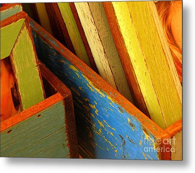 Boxed Memories Metal Print by Ranjini Kandasamy