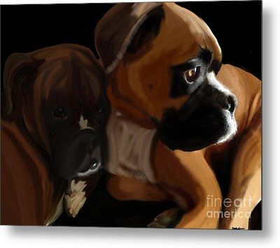 Boxer Brothers Metal Print by Christina Kulzer