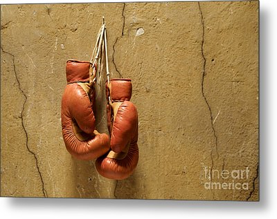Boxing Gloves Metal Print by Bernard Jaubert