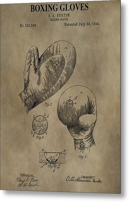 Boxing Gloves Patent Metal Print by Dan Sproul