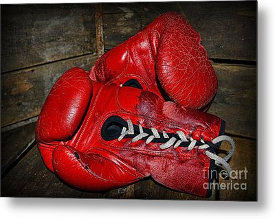 Boxing Gloves Metal Print by Paul Ward