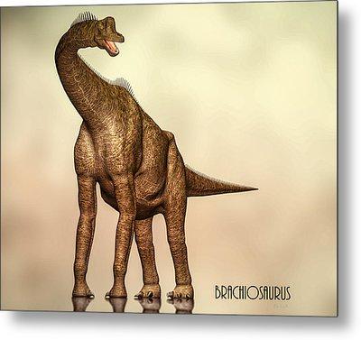 Brachiosaurus Dinosaur Metal Print by Bob Orsillo