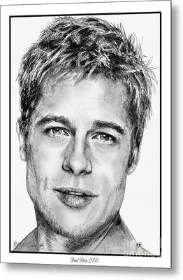 Brad Pitt In 2006 Metal Print by J McCombie