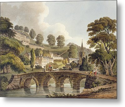 Bradford, From Bath Illustrated Metal Print by John Claude Nattes