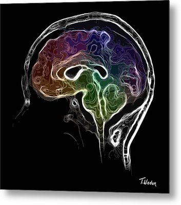 Brain And Mind Metal Print by Tylir Wisdom