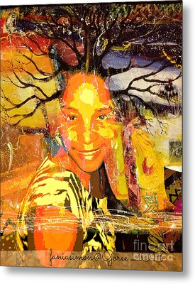 Brain Of Baobab Metal Print by Fania Simon