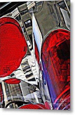Brake Light 35 Metal Print by Sarah Loft