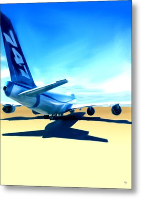 Brand New - Boeing 747 Metal Print by Marcello Cicchini