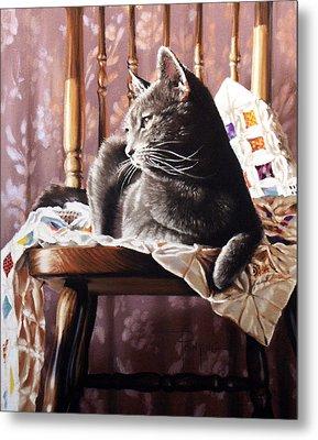 Brat Cat Metal Print by Dianna Ponting