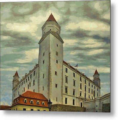 Bratislava Castle Metal Print by Jeff Kolker