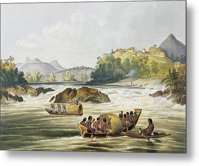 Brazilian Fort St. Gabriel On The Rio Metal Print by Charles Bentley