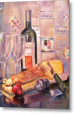 Bread And Wine Metal Print by Dorothy Siclare