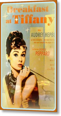 Breakfast At Tiffany Metal Print by The Creative Minds Art and Photography
