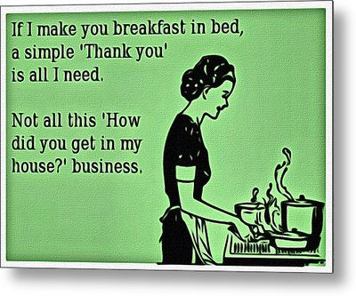 Breakfast In Bed Metal Print by Florian Rodarte