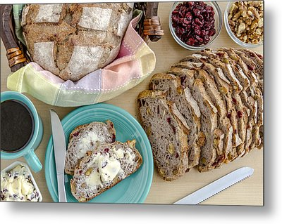 Breakfast With Bread Metal Print by Teri Virbickis