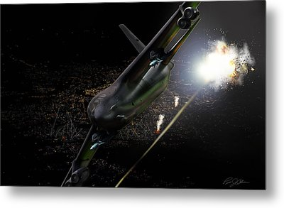 Breaking Baghdad Metal Print by Peter Chilelli