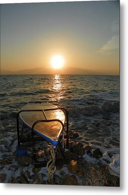 Breaking Dawn At The Dead Sea Metal Print by Noreen HaCohen