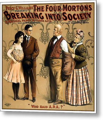 Breaking Into Society Metal Print by Terry Reynoldson