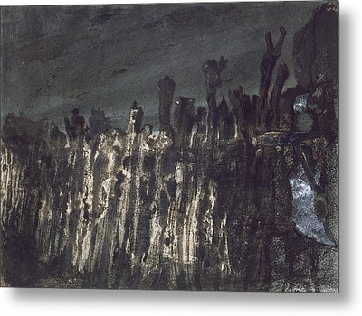 Breakwater In Jersey Metal Print by Victor Hugo