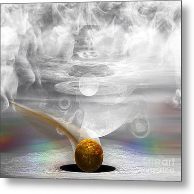 Breathing Life Into A Planet Metal Print by Peter R Nicholls