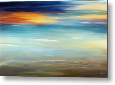 Breeze-seascapes Abstract Art Metal Print by Lourry Legarde