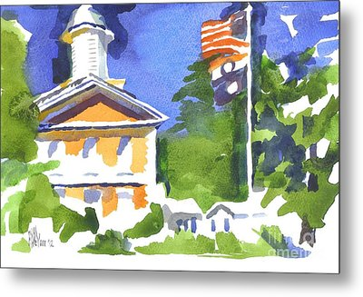 Breezy Morning At The Courthouse Metal Print by Kip DeVore