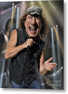 Brian Johnson Metal Print by Andre Koekemoer