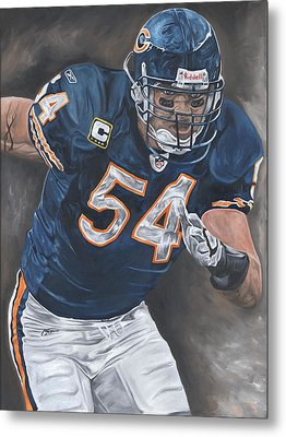 Brian Urlacher Seek And Destroy Metal Print by David Courson