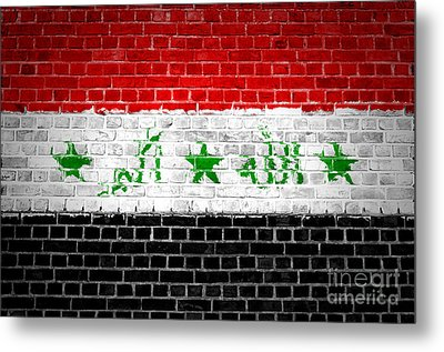 Brick Wall Iraq Metal Print by Antony McAulay