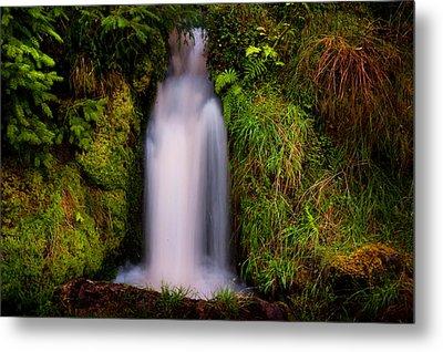 Bridal Dress. Waterfall At Benmore Botanical Garden. Nature Of Scotland Metal Print by Jenny Rainbow