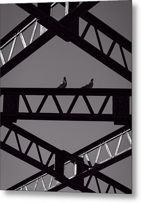 Bridge Abstract Metal Print by Bob Orsillo
