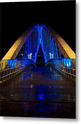Bridge In Blue Metal Print by Brendan Quinn