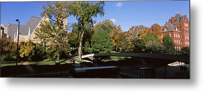 Bridge In Front Of A University, Music Metal Print by Panoramic Images