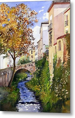 Bridge Over The Rio Darro Metal Print by Margaret Merry