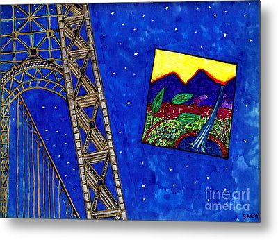 Bridge Metal Print by Sarah Loft