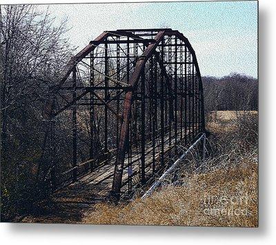 Bridge To Nowhere Metal Print by R McLellan